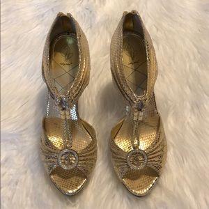 Baby phat gold high heels